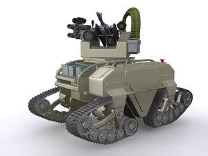 3D model MUTT Robot UGV Drone