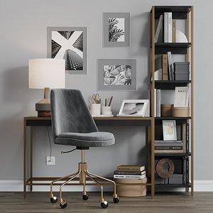 3D decor office chair zane