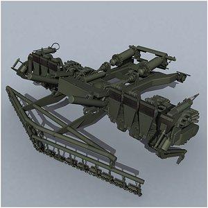 TMT-K tank mine roller 3D model