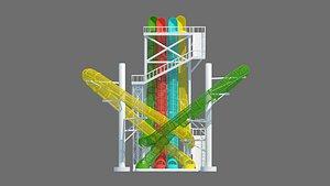 Water Park Combined Slide 3D model
