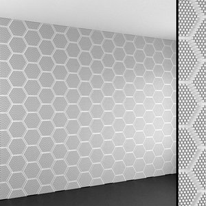 3D Wall Panel Set 161 model