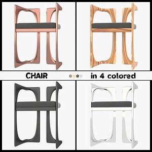3D chair 4 colour model