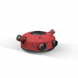 robot head 3D