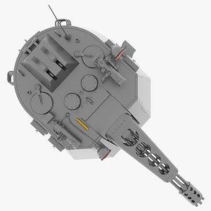 3D vigilante turret model