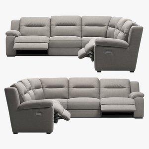Sectional Recliner Sofa 3D model