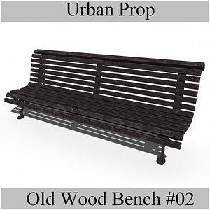 3D OldWoodBench02 model
