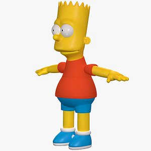 Bart Simpson Character 8K 3D model