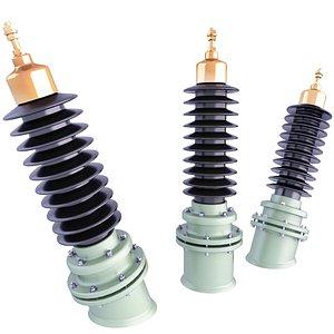 ceramic insulator voltage 3D