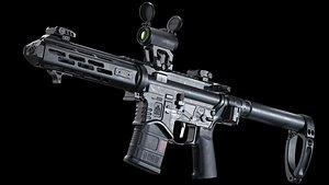 3D model weaponry firearm rifle
