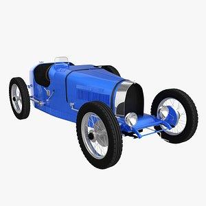 3D Vintage Race Car 1928 model
