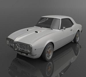 1968 Pontiac Firebird 3D