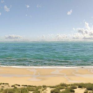 Beach Environment 3D model