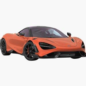 3D McLaren 765LT 2022 Low Interior