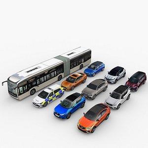 3D model City Low Poly Cars Set.1