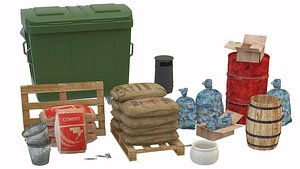 Urban Trash Garbage Bags 3D model