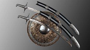 3D arab weapon