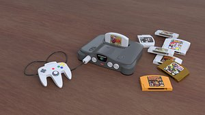 Nintendo 64 low poly and high poly 3D
