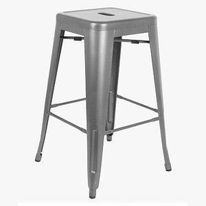 3D tolix stool model