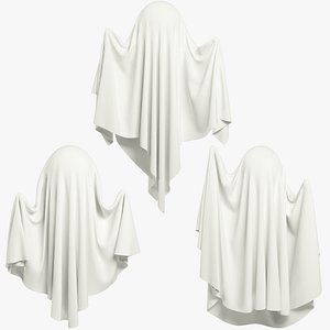 3D model Funny Blank Ghosts Collection V1