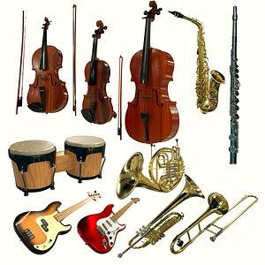 3D model instrument 1 musical