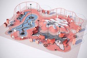 playground exterior 3D model