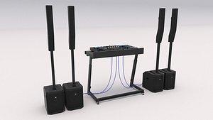3D Dj Booth 02 model