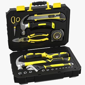 3D Full Toolbox With Equipment