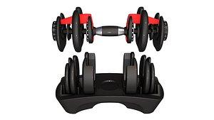 Bowflex  Dumbbells 3d 3D model