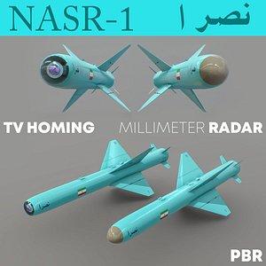 3D model NASR-1 Iranian Anti-Ship Missile