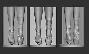 ballerina leg 3D model