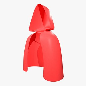 Red short cloak 3D model