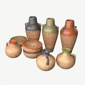 3D old vase