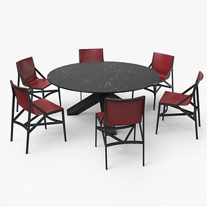 3D cassina dining table set