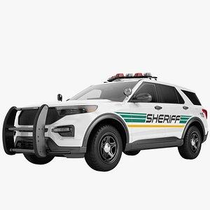 3D model Police Car SUV Generic 05