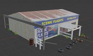 3D shop store building