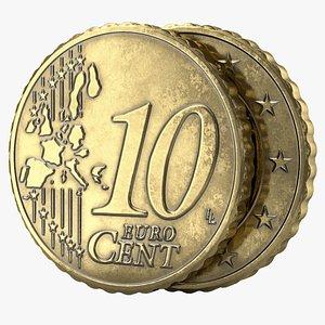 euro cent pbr 3D model