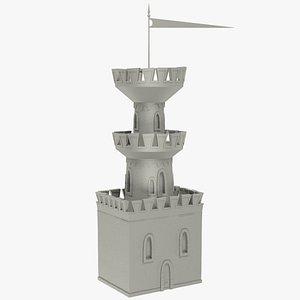 stylized castle watch 3D