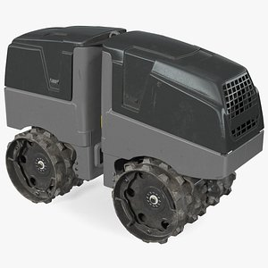 3D Vibratory Trench Roller Dirty model