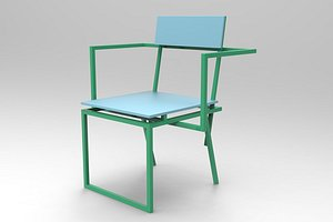 banco contemporary chair 3D model
