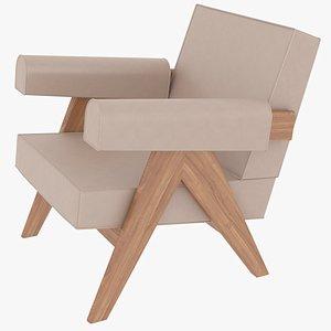 capitol complex armchair jeanneret 3D model