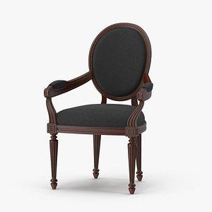 Black Velvet Dinning Chair 3D model