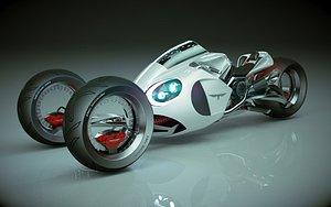 3D T Bike Three Wheel 02