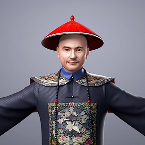 People in Qing Dynasty of China 3D model 3D model