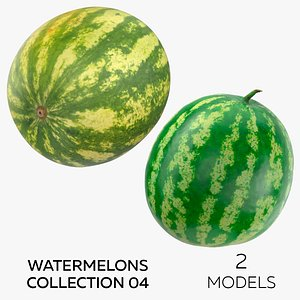 3D Watermelons Collection 04 - 2 models