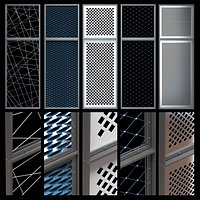 Decorative metal lattices - Rhombus