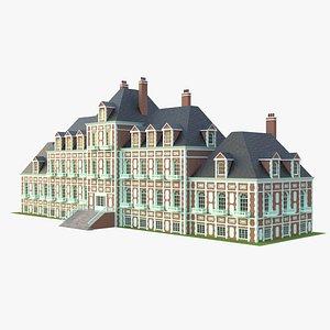 3D english mansion model