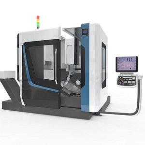 Milling Machine CNC Tools 3D