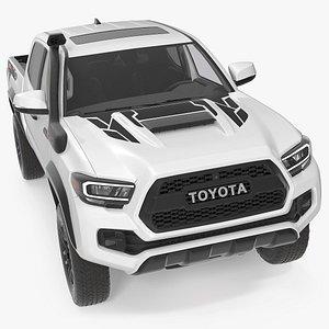 Toyota Tacoma TRD Pro Super White 2021 3D