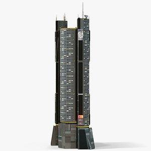 Sci-Fi Futuristic Skyscraper PBR 08 3D model