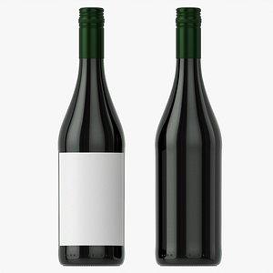 3D Wine bottle mockup 08 screw cap
